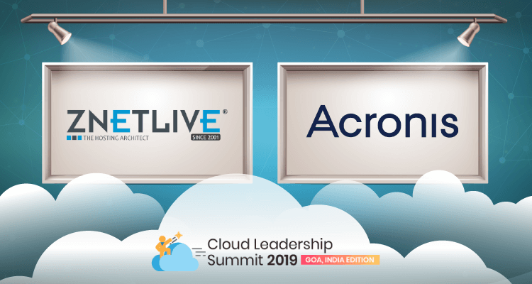 Acronis to sponsor the Cloud Leadership Summit 2019 along with ZNet Technologies.